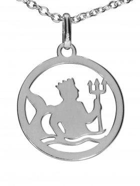 Wassermann, Sternzeichen Anhänger small mit Öse, 925 Silber rhodiniert