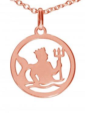 Wassermann, Sternzeichen Anhänger small mit Öse, 925 Silber rosévergoldet