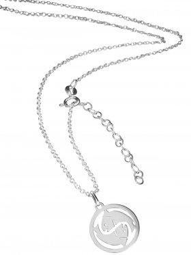 Fische (small ø 15 mm) -  Ankerkette mit Verlängerungskette, Länge 38+5 cm, 925 Silber