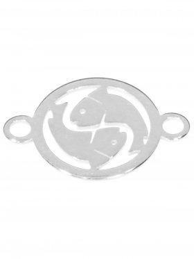 Fische, Element mini (10 mm) mit 2 Ösen, 925 Silber