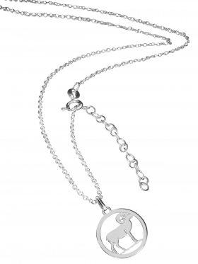 Widder (small ø 15 mm) -  Ankerkette mit Verlängerungskette, Länge 38+5 cm, 925 Silber