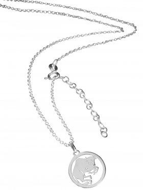 Stier (small ø 15 mm) -  Ankerkette mit Verlängerungskette, Länge 38+5 cm, 925 Silber