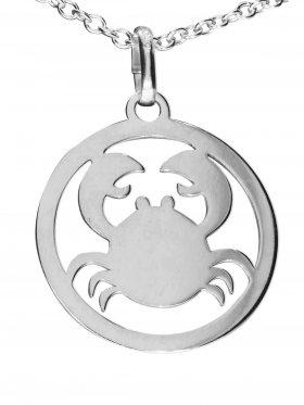 Krebs, Sternzeichen Anhänger small mit Öse, 925 Silber