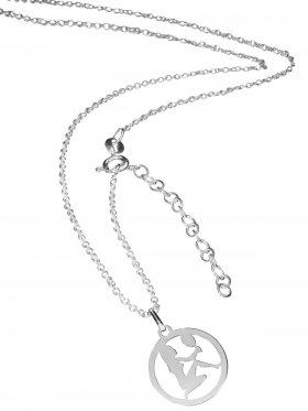 Jungfrau (small ø 15 mm) -  Ankerkette mit Verlängerungskette, Länge 38+5 cm, 925 Silber