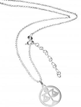 Waage (small ø 15 mm) -  Ankerkette mit Verlängerungskette, Länge 38+5 cm, 925 Silber