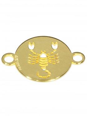 Skorpion, Element mini (10 mm) mit 2 Ösen, 925 Silber vergoldet