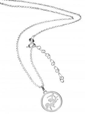 Schütze (small ø 15 mm) -  Ankerkette mit Verlängerungskette, Länge 38+5 cm, 925 Silber