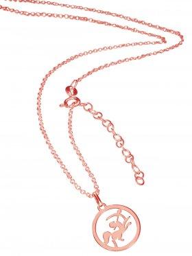 Schütze (small ø 15 mm) -  Ankerkette mit Verlängerungskette, Länge 38+5 cm, 925 Silber rosévergoldet