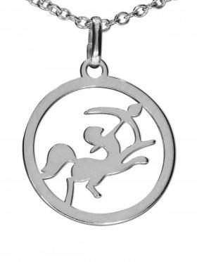 Schütze, Sternzeichen Anhänger small mit Öse, 925 Silber rhodiniert