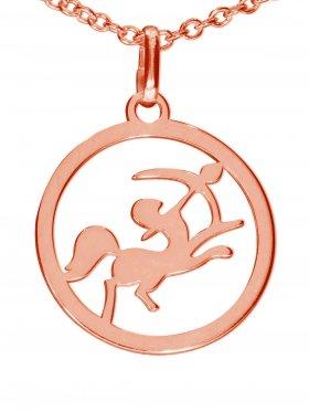 Schütze, Sternzeichen Anhänger small mit Öse, 925 Silber rosévergoldet