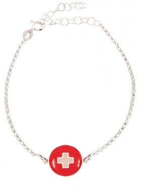 Schweiz, Landesplättchen mit Silberarmband