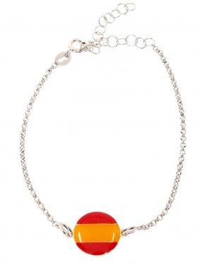 Spanien, Landesplättchen mit Silberarmband