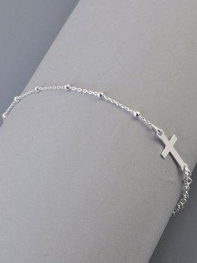 Symbolarmband mit Madonna und Kreuz, 925 Silber