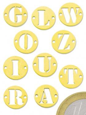 """Buchstabe """"X"""", Element beidseitig gebohrt, 925 vergoldet"""