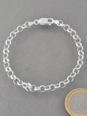 Set mit 5 Charms mit Strass-Keramik-Perle, Serpentin, Perlmutt, Silber