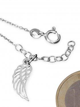 Armband Anker xxx-fein mit Verlängerungskettchen in 925 Silber rhodiniert