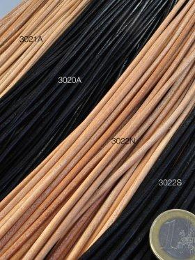 Lederbänder ø 2 und 3 mm, Länge 1 m