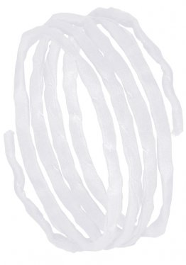 Seidenbänder, Schwarz/Weiß-Töne, L 1 m, VE 10 St. - weiß (95)