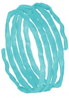 Seidenbänder, Blaugrüntöne, L 1 m, VE 10 St. - eisblau (92)