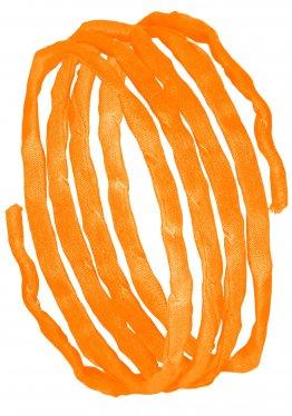 Seidenbänder, Gelbtöne, L 1 m, VE 10 St. - hellorange (72)