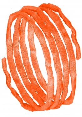 Seidenbänder, Gelbtöne, L 1 m, VE 10 St. - mandarin (73)