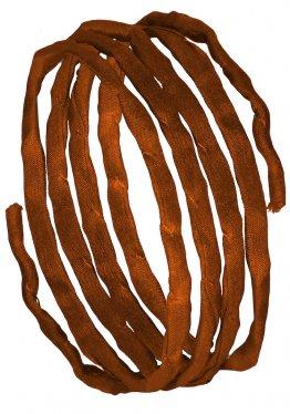Seidenbänder, Gelbtöne, L 1 m, VE 10 St. - orangebraun (63)