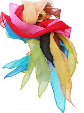 Chiffon-Seidenband Crinkle breit in verschiedenen Farbtönen