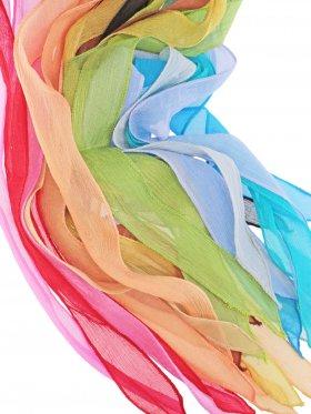 Chiffon-Seidenband Crinkle schmal in verschiedenen Farbtönen