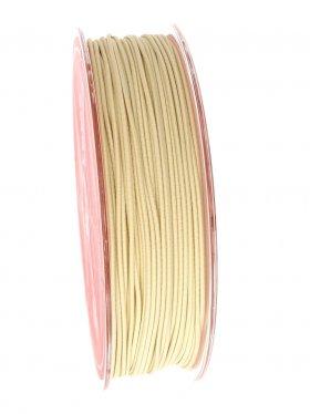 Elastikband auf Spule ø 1 mm, 25 m, creme