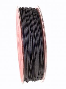 Elastikband auf Spule ø 1 mm, 25 m, dunkelgrau