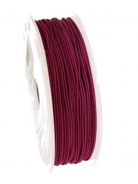Elastikband auf Spule ø 1 mm, 25 m, weinrot