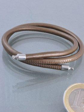 Band für Wechselschließen (WS), Nappaleder bronze, ø 4, versch. Längen - VE 1 St. - L 42 cm