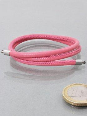 Band für Wechselschließen, Nappaleder pink, ø 4, versch. Längen - VE 1 St. - L 42 cm