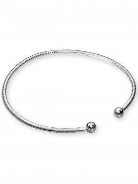 Armband offen ø 1,9 mm mit einer abschraubbarer Kugel, 925 Silber