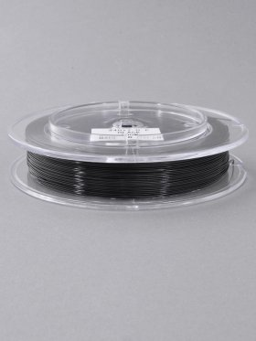Stahlseil Standard ø 0,6 mm, Spule 100 m, schwarz