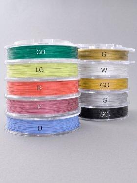 Stahlseil Standard, bunt, Spule 100m / ø 0,4 mm / div. Farben - grün