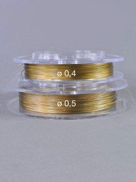 Messingseil, Spule 100 m, ø 0,4 mm goldfarben