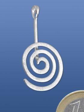 Donuthalter Spirale rund gebürstet, ø 19 mm, VE 1 Stück