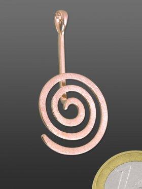 Donuthalter Spirale rund gebürstet, ø 19, Silber rose-vergoldet, VE 2 St.