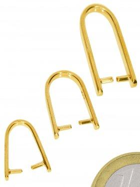 Steinhalter Slim - Groß, 925 vergoldet