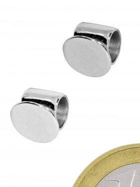 Rohr mit Klebefläche, 925 Silber und rhodiniert, VE 5 St.