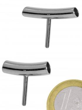 Rohr mit Stift, 925 Silber, rhodiniert