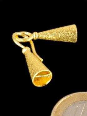 Endkappenverschluss mit Haken und Öse, 925 Silber