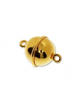 Magnetverschluss Kugel m. Rand, 925 vergoldet glänzend, ø 10 - VE 1 St.