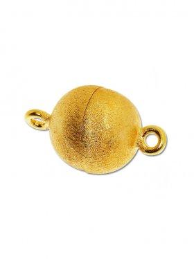 Magnetverschluss Kugel o. Rand ø 12, 925 vergoldet gebürstet - VE 1 St.