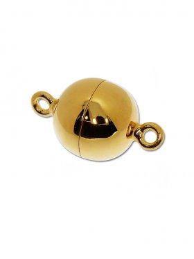 Magnetverschluss Kugel o. Rand, 925 vergoldet glänzend, ø 12 - VE 1 St.