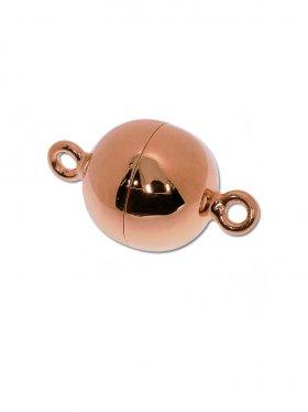 Magnetverschluss Kugel o. Rand ø 12, 925 rosévergoldet glänzend - VE 1 St.