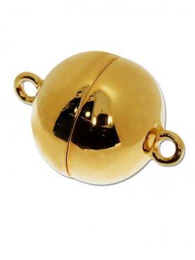 Magnetverschluss Kugel o. Rand, 925 vergoldet glänzend, ø 16 - VE 1 St.