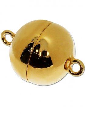 Magnetverschluss Kugel o. Rand, 925 vergoldet glänzend, ø 18 - VE 1 St.