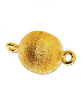Magnetverschluss Kugel o. Rand ø 14, 925 vergoldet gebürstet - VE 1 St.